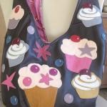Muffins auf der süßen Tasche